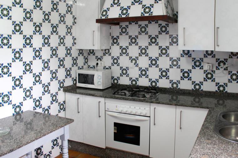 Küche in einem der großen Apartments