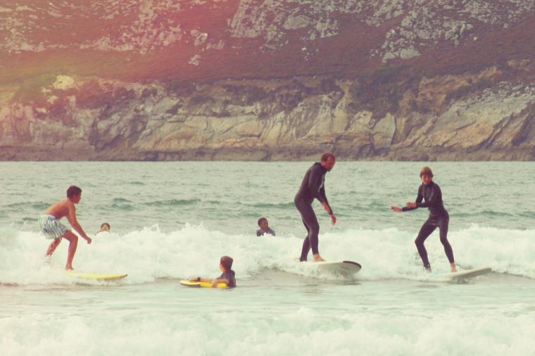 sanfter Surf-Einstieg - auch für die Großen