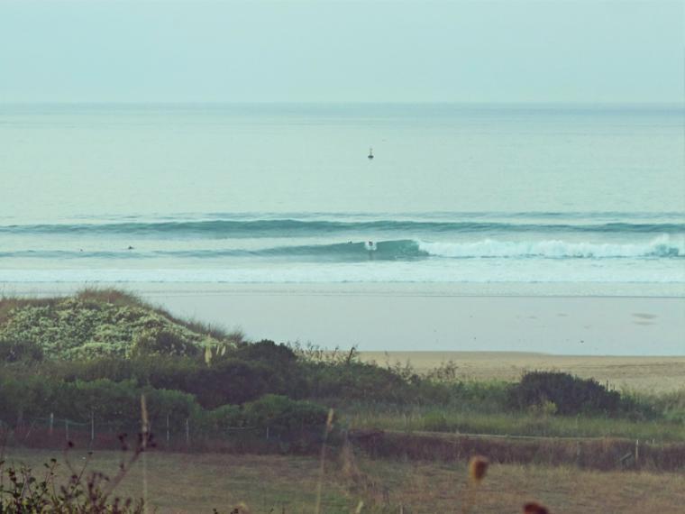 unser Surfspot ist nicht überlaufen - es bleibt viel Platz zum üben